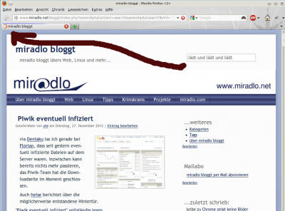 Screenshot lädt... miradlo bloggt