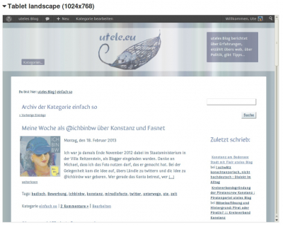 Screenshot utele.eu Design ab April 2013