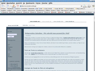 Screenshot miradlo bloggt