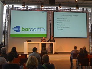 Accessibility Session beim Barcamp Darmstadt